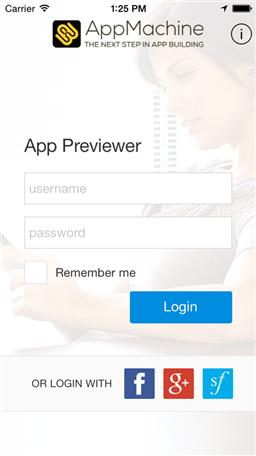 Appmachine previewer app Building designing app